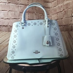 Sea Glass Med Coach Studded Margot Carryall